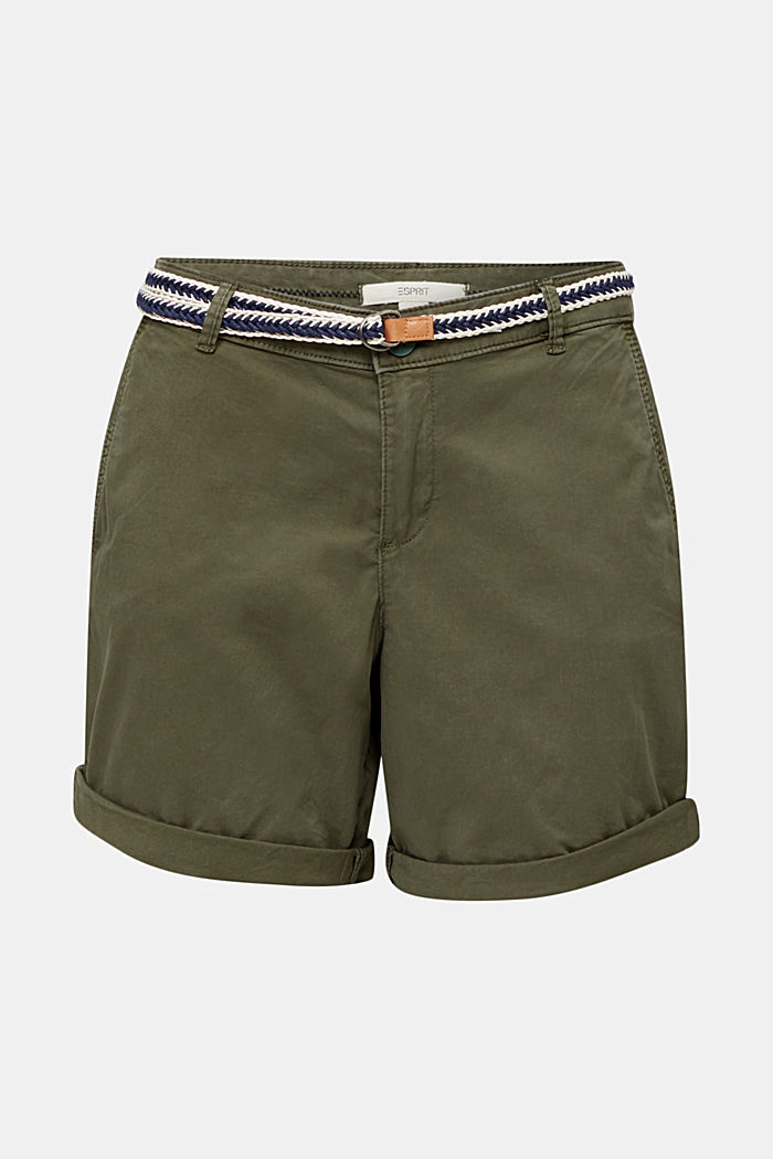 Stretch shorts with Lycra xtra life™, KHAKI GREEN, detail image number 6