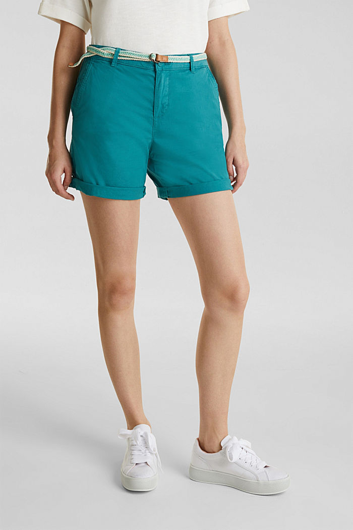 Stretch shorts with Lycra xtra life™, TEAL GREEN, detail image number 6