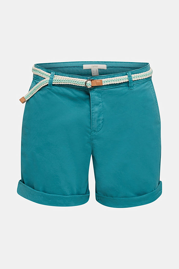 Stretch shorts with Lycra xtra life™, TEAL GREEN, detail image number 7