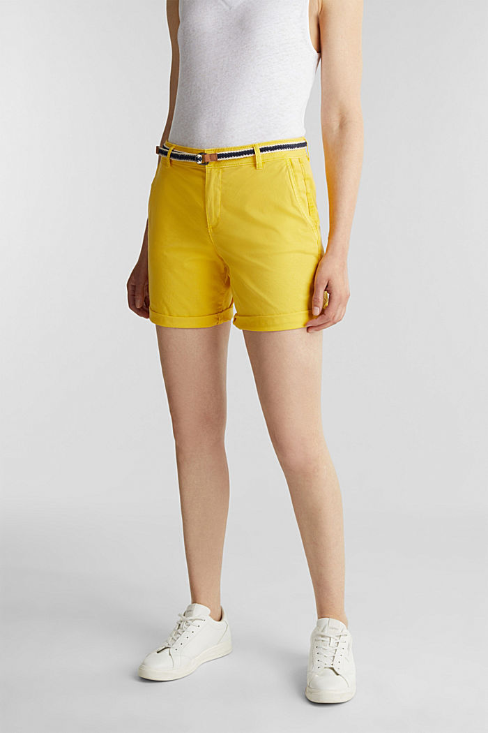 Stretch shorts with Lycra xtra life™, BRIGHT YELLOW, detail image number 0