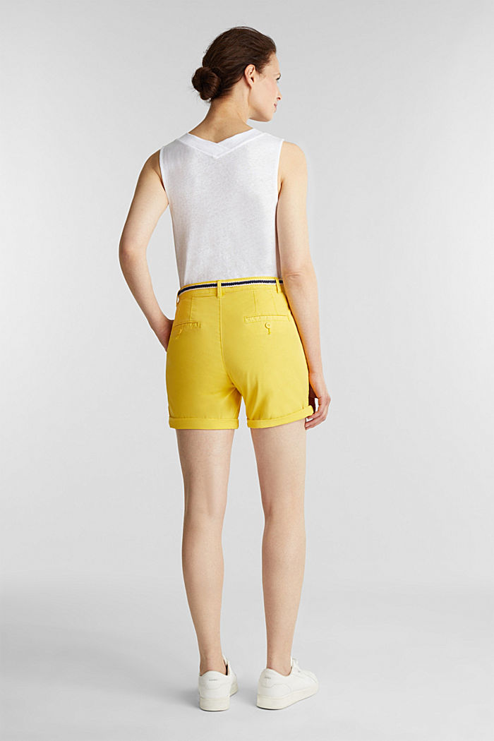 Stretch shorts with Lycra xtra life™, BRIGHT YELLOW, detail image number 3