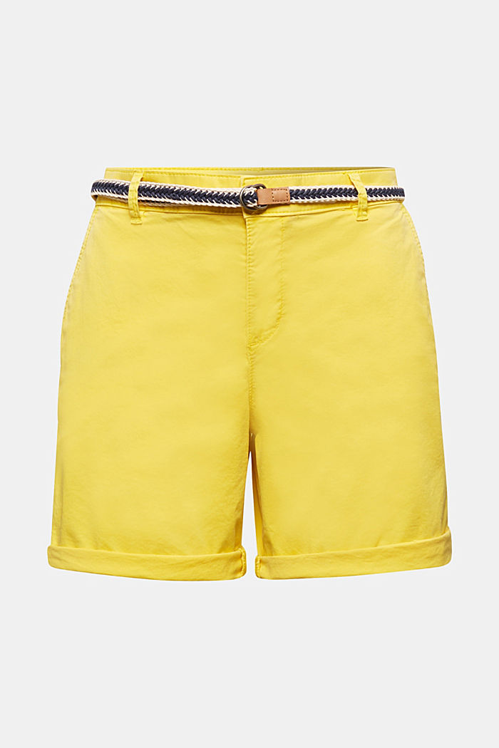 Stretch shorts with Lycra xtra life™, BRIGHT YELLOW, detail image number 5