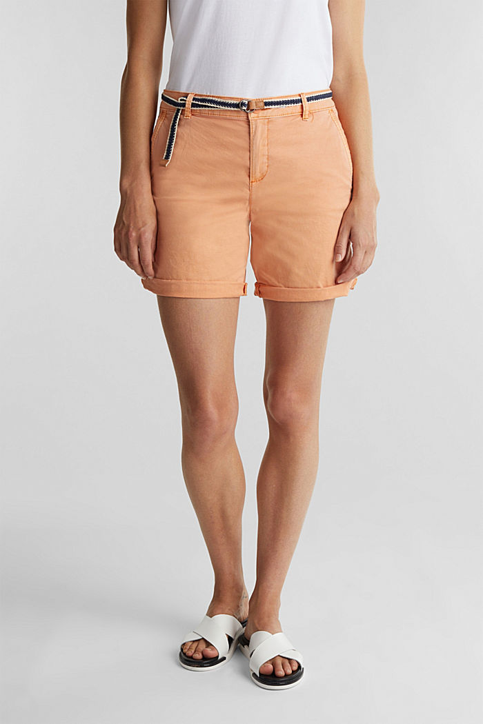 Stretch shorts with Lycra xtra life™, RUST ORANGE, detail image number 0