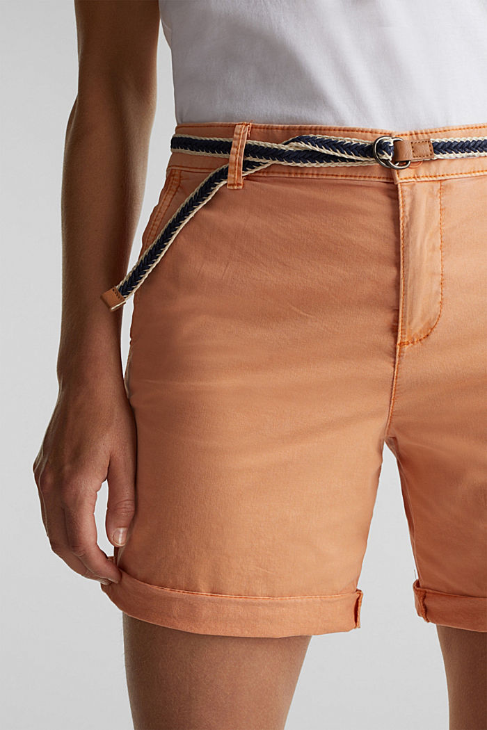 Stretch shorts with Lycra xtra life™, RUST ORANGE, detail image number 2