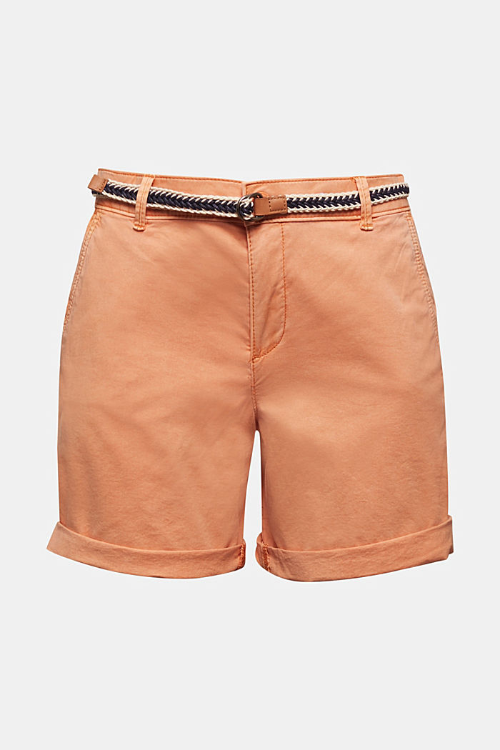 Stretch shorts with Lycra xtra life™, RUST ORANGE, detail image number 6