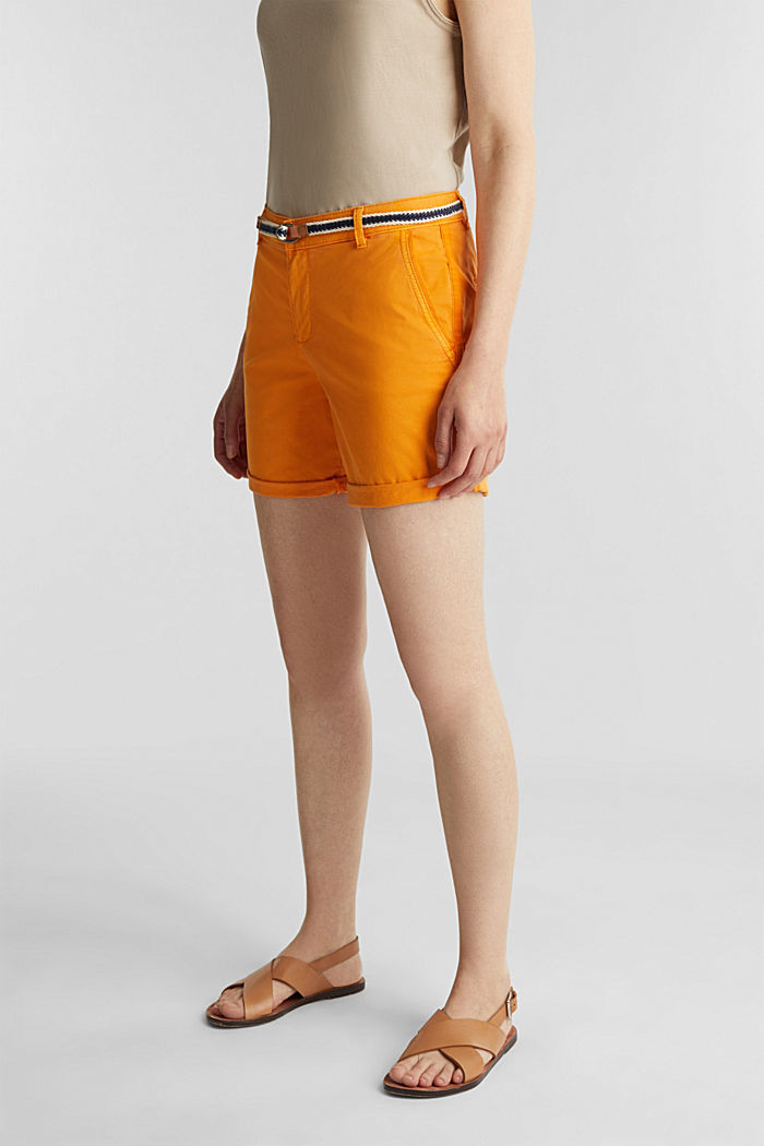Stretch shorts with Lycra xtra life™, ORANGE, detail image number 0