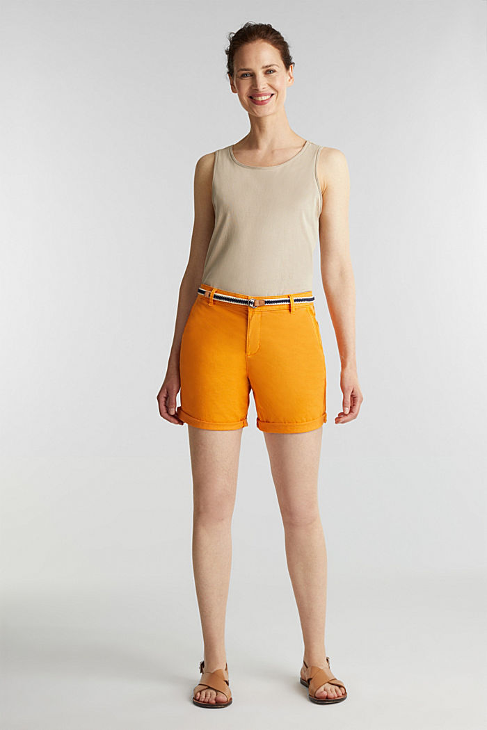 Stretch shorts with Lycra xtra life™, ORANGE, detail image number 1