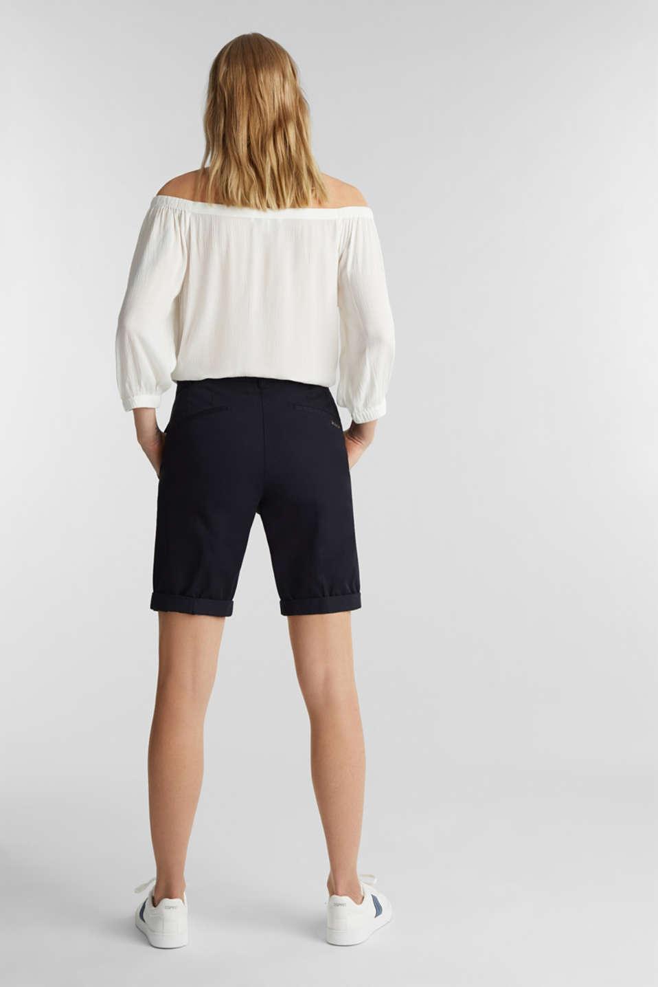 Basic Bermudas made of 100% cotton, BLACK, detail image number 3