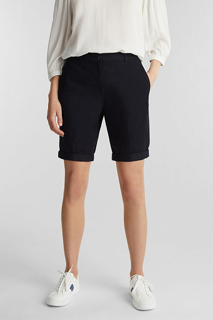 Basic Bermudas made of 100% cotton, BLACK, detail image number 5