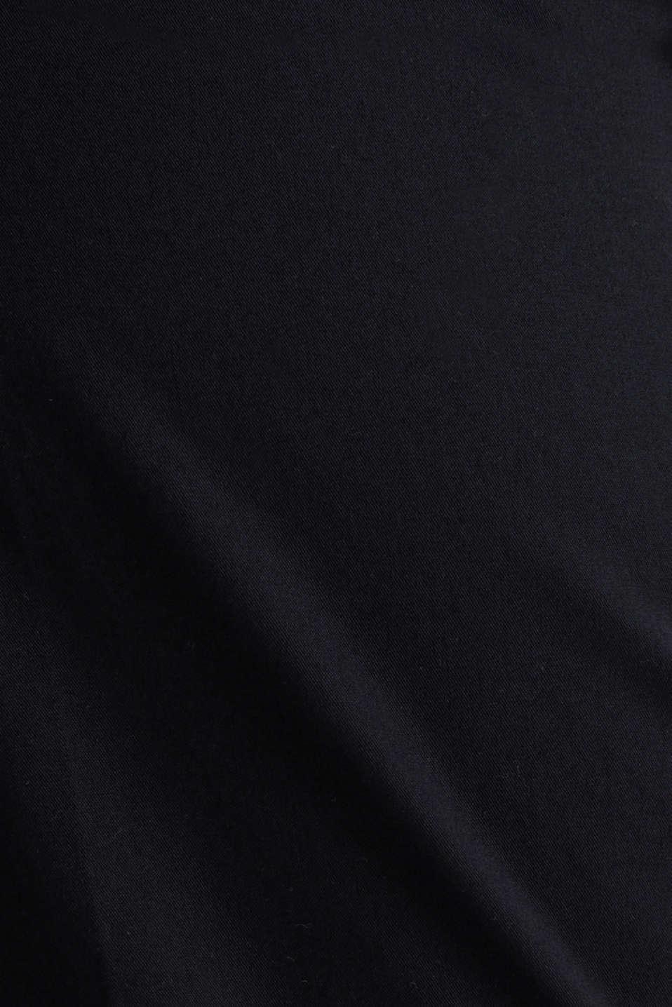 Basic Bermudas made of 100% cotton, BLACK, detail image number 4