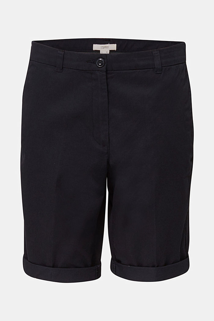 Basic Bermudas made of 100% cotton, BLACK, detail image number 6