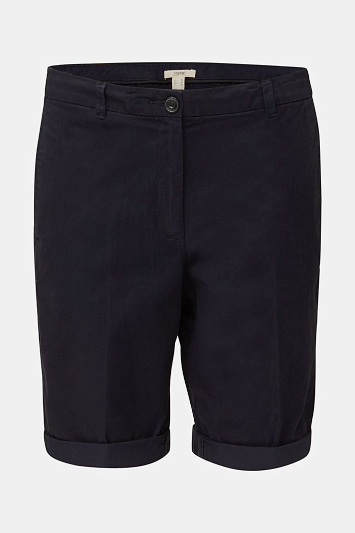 Basic Bermudas made of 100% cotton, NAVY, overview