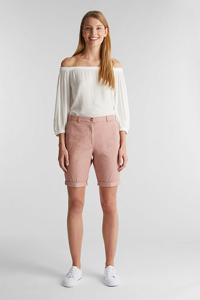 Basic Bermudas made of 100% cotton, OLD PINK, detail image number 0