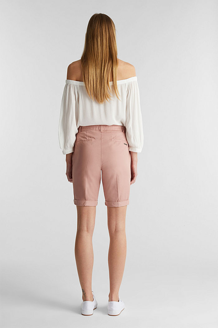 Basic Bermudas made of 100% cotton, OLD PINK, detail image number 3