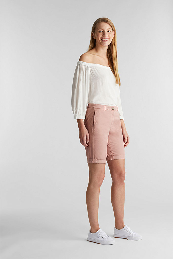 Basic Bermudas made of 100% cotton, OLD PINK, detail image number 1