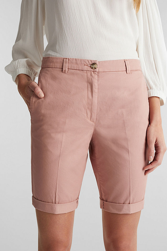 Basic Bermudas made of 100% cotton, OLD PINK, detail image number 2