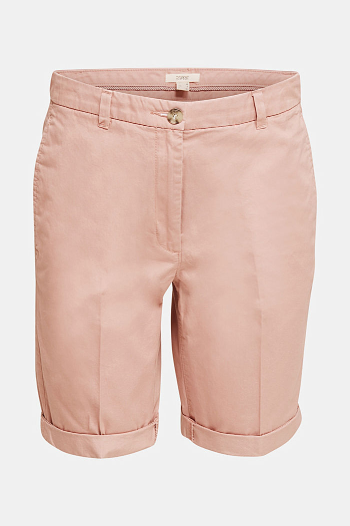 Basic Bermudas made of 100% cotton, OLD PINK, detail image number 6