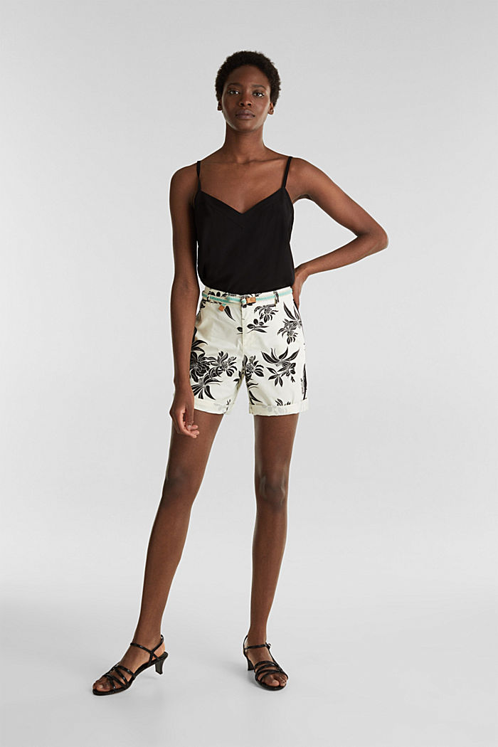 Chino-Shorts mit Lycra xtra life™, WHITE, detail image number 0
