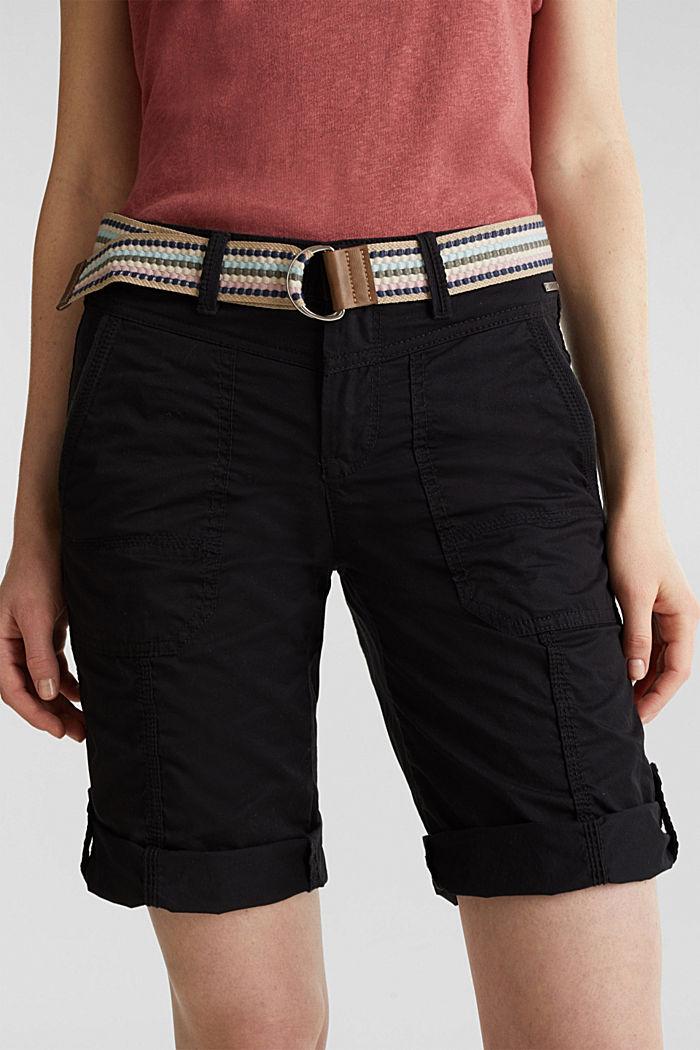 PLAY Baumwoll-Shorts, BLACK, detail image number 0