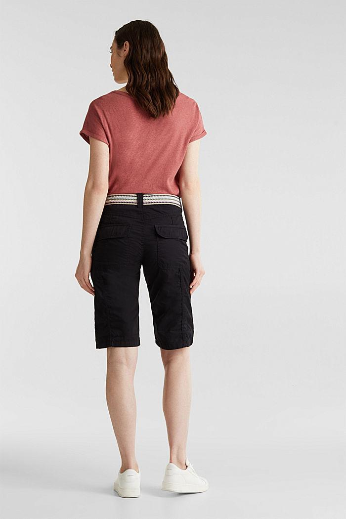 PLAY Baumwoll-Shorts, BLACK, detail image number 3