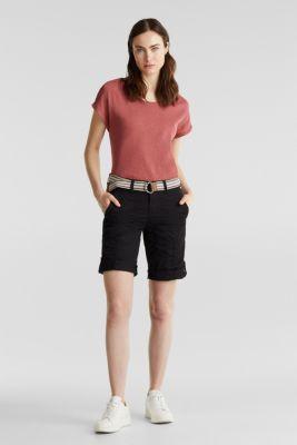 PLAY cotton shorts, BLACK, detail