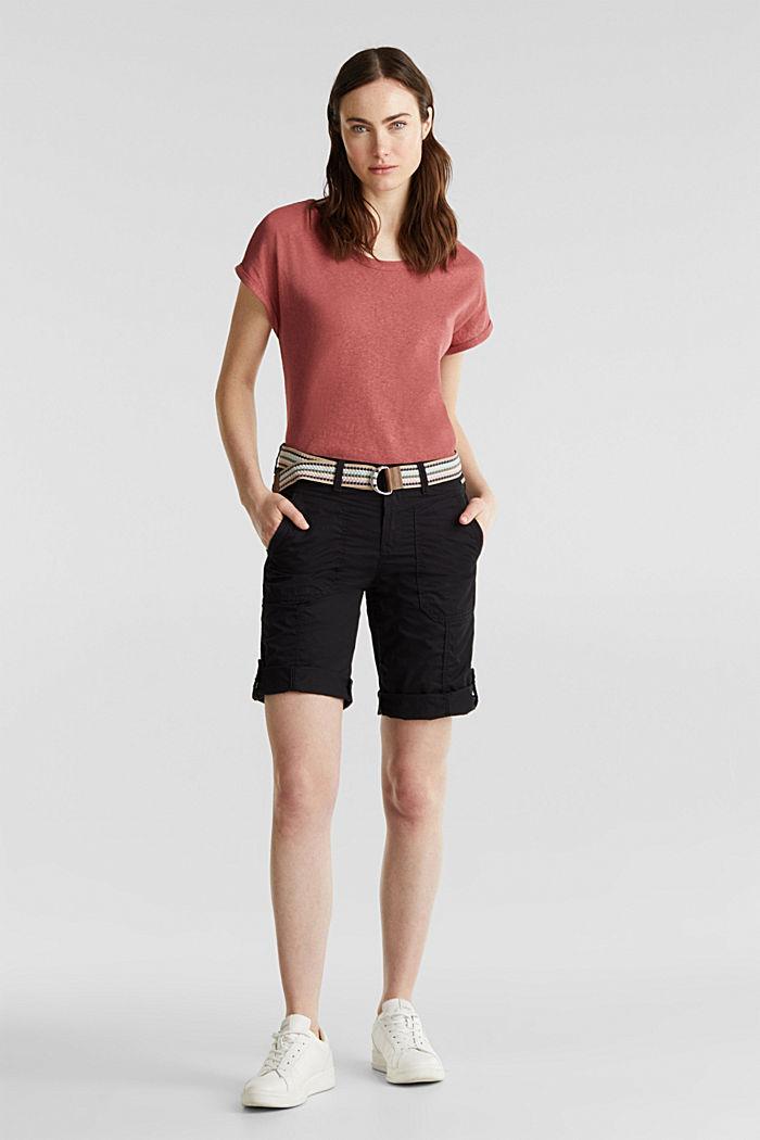 PLAY Baumwoll-Shorts, BLACK, detail image number 1