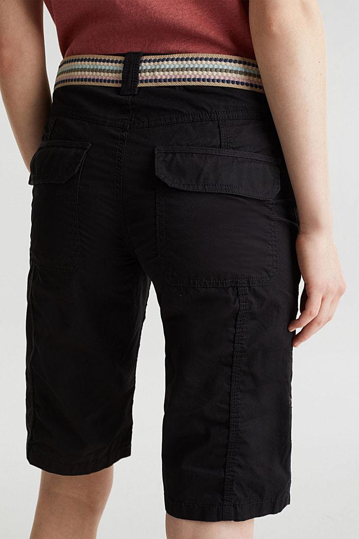 PLAY Baumwoll-Shorts, BLACK, detail image number 5