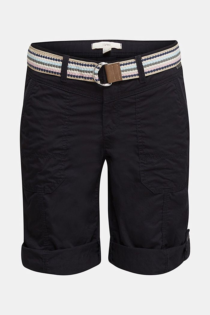 PLAY Baumwoll-Shorts, BLACK, detail image number 7
