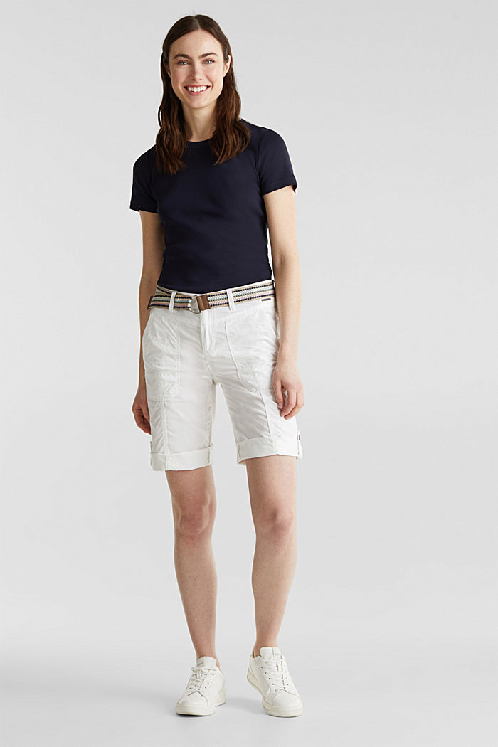 PLAY cotton shorts, WHITE, detail image number 0