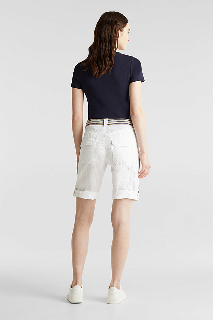 PLAY cotton shorts, WHITE, detail image number 3