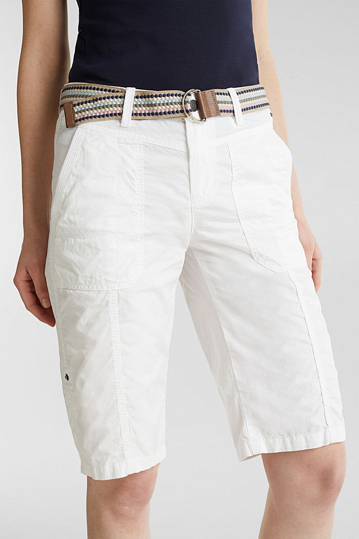 PLAY cotton shorts, WHITE, detail image number 6