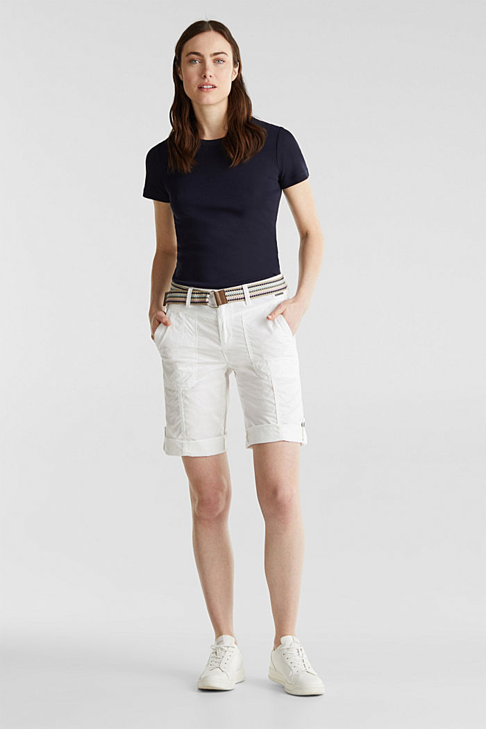 PLAY cotton shorts, WHITE, detail image number 1