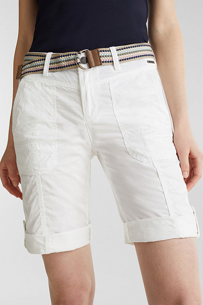 PLAY cotton shorts, WHITE, detail image number 2