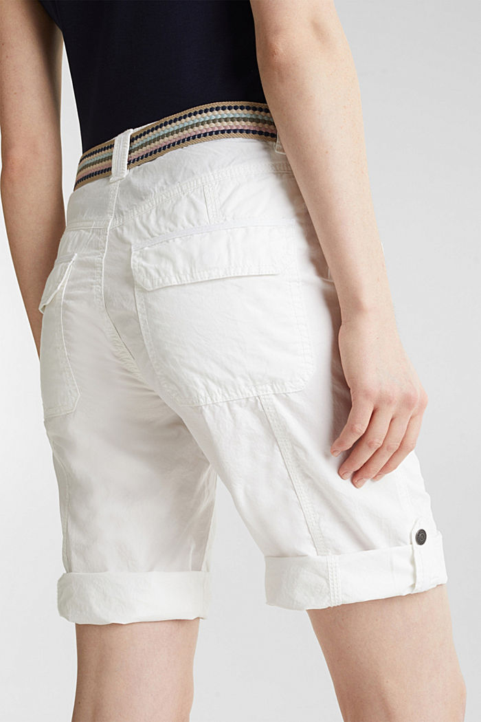 PLAY cotton shorts, WHITE, detail image number 5