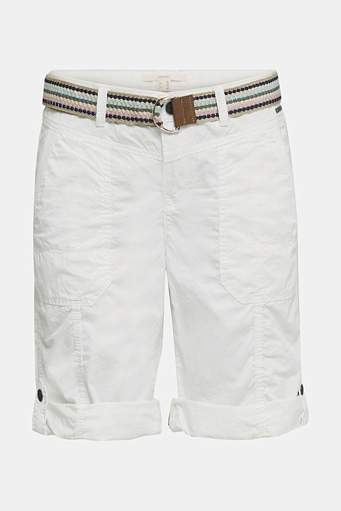 PLAY cotton shorts, WHITE, detail image number 7