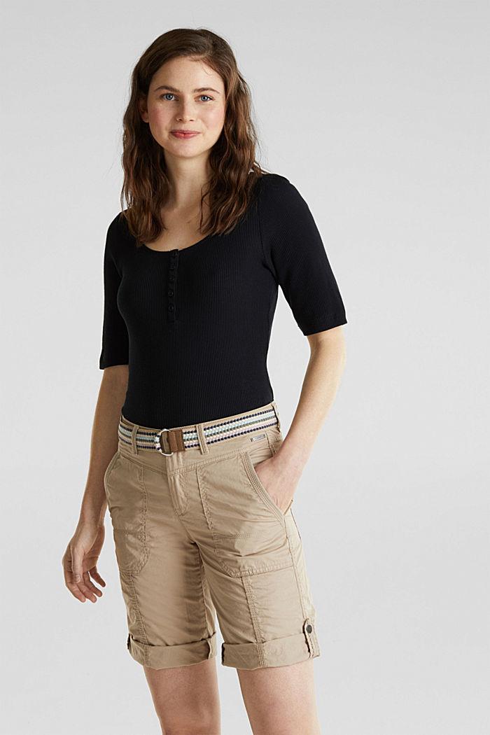PLAY Baumwoll-Shorts, BEIGE, detail image number 0