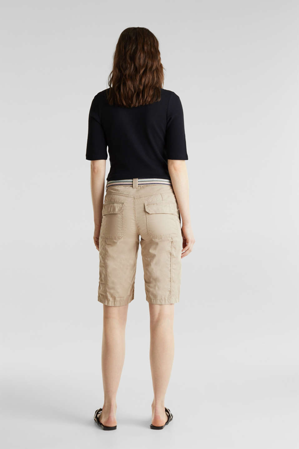 PLAY cotton shorts, BEIGE, detail image number 3