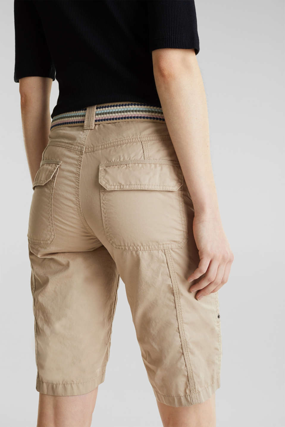 PLAY cotton shorts, BEIGE, detail image number 5