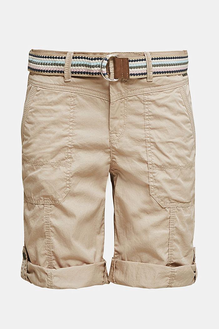 PLAY Baumwoll-Shorts, BEIGE, detail image number 7