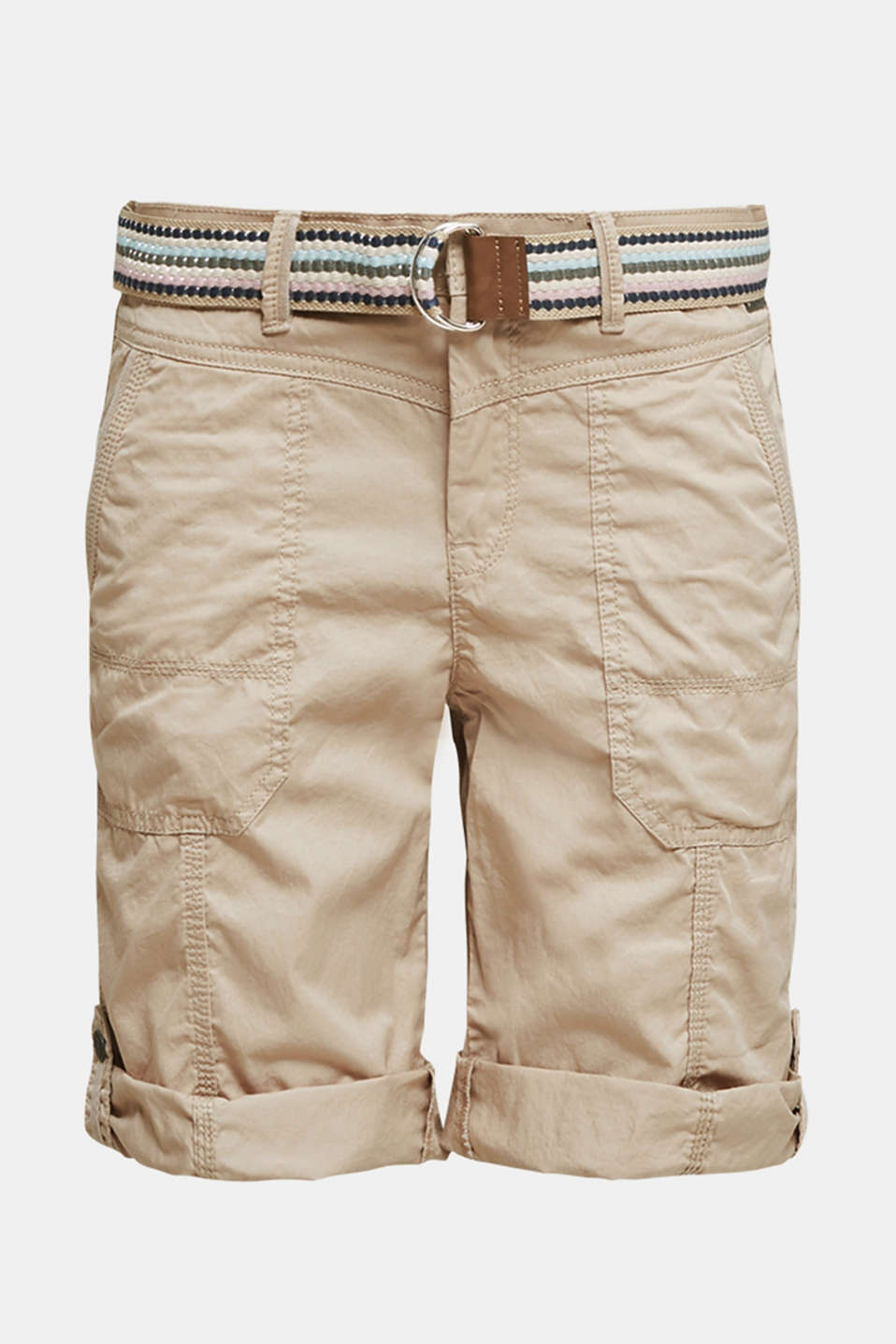 PLAY cotton shorts, BEIGE, detail image number 7