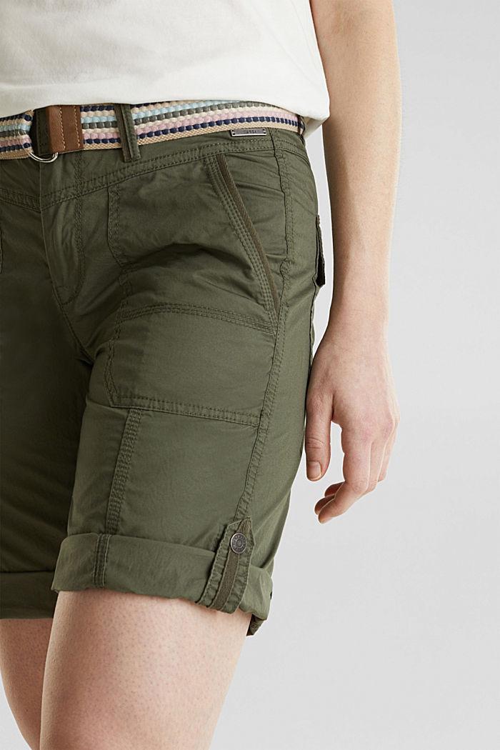 PLAY Baumwoll-Shorts, KHAKI GREEN, detail image number 2