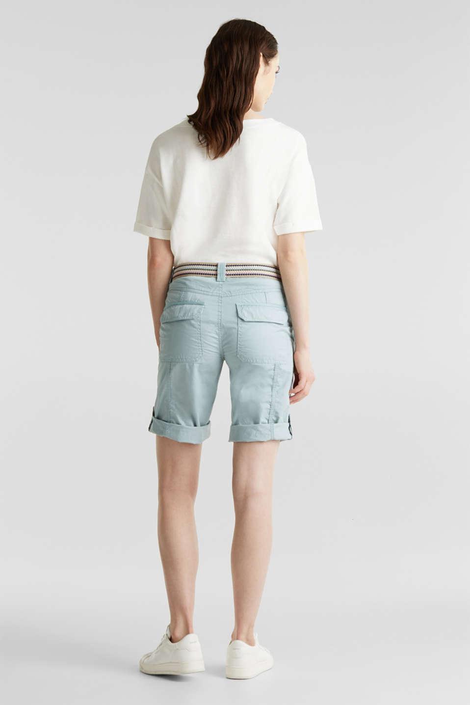 PLAY cotton shorts, LIGHT AQUA GREEN, detail image number 3