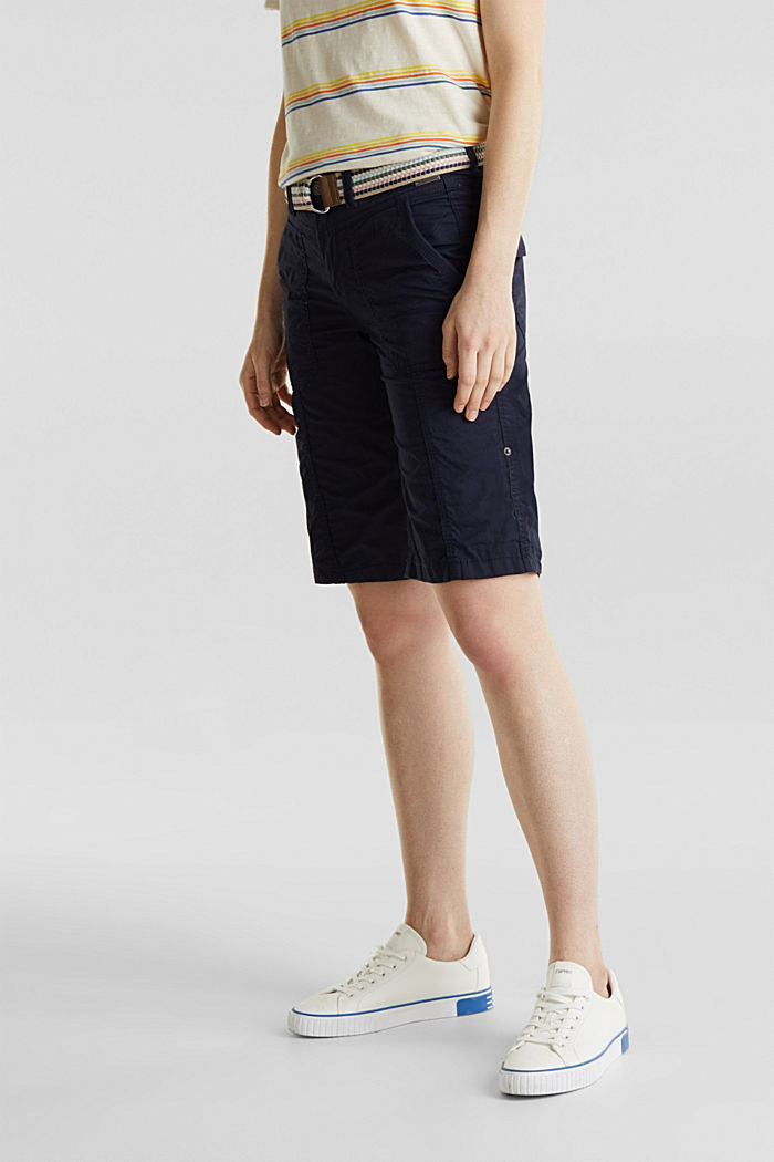 PLAY cotton shorts, NAVY, detail image number 5