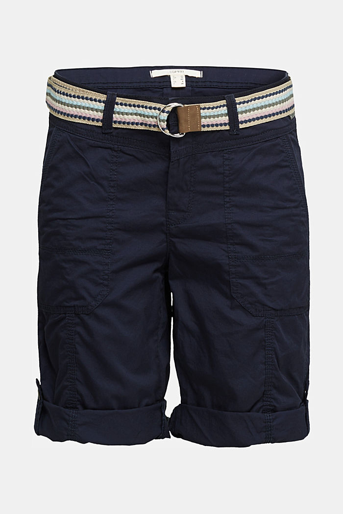 PLAY cotton shorts, NAVY, detail image number 6