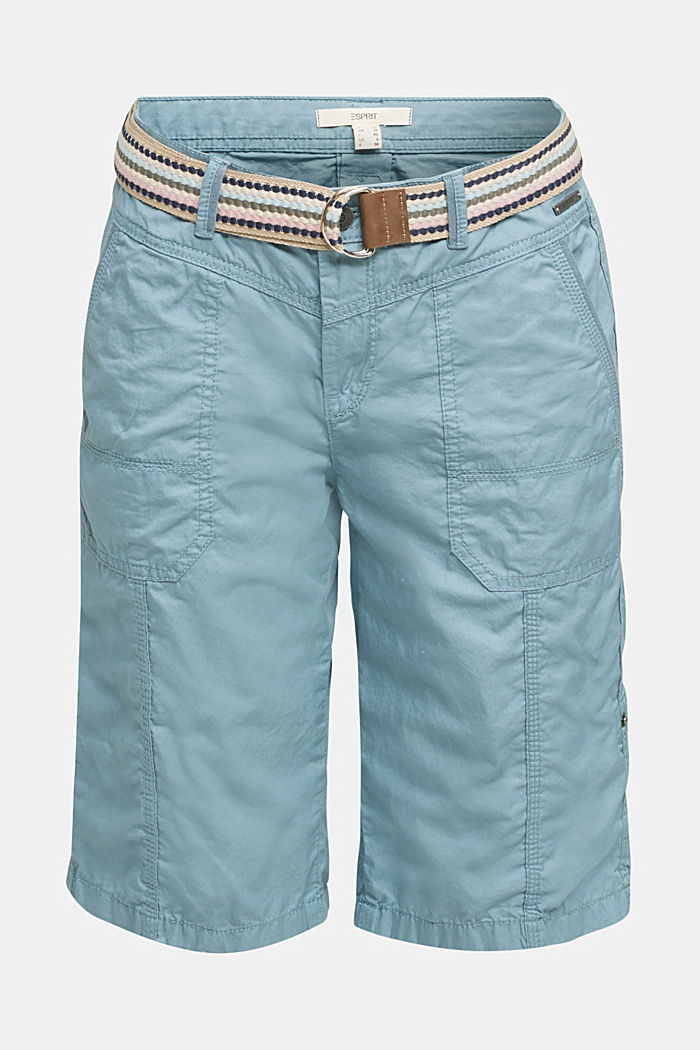PLAY cotton shorts, GREY BLUE, detail image number 7