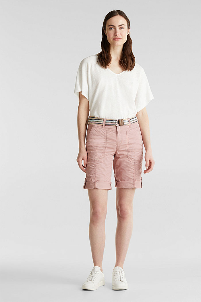 PLAY cotton shorts, OLD PINK, detail image number 0