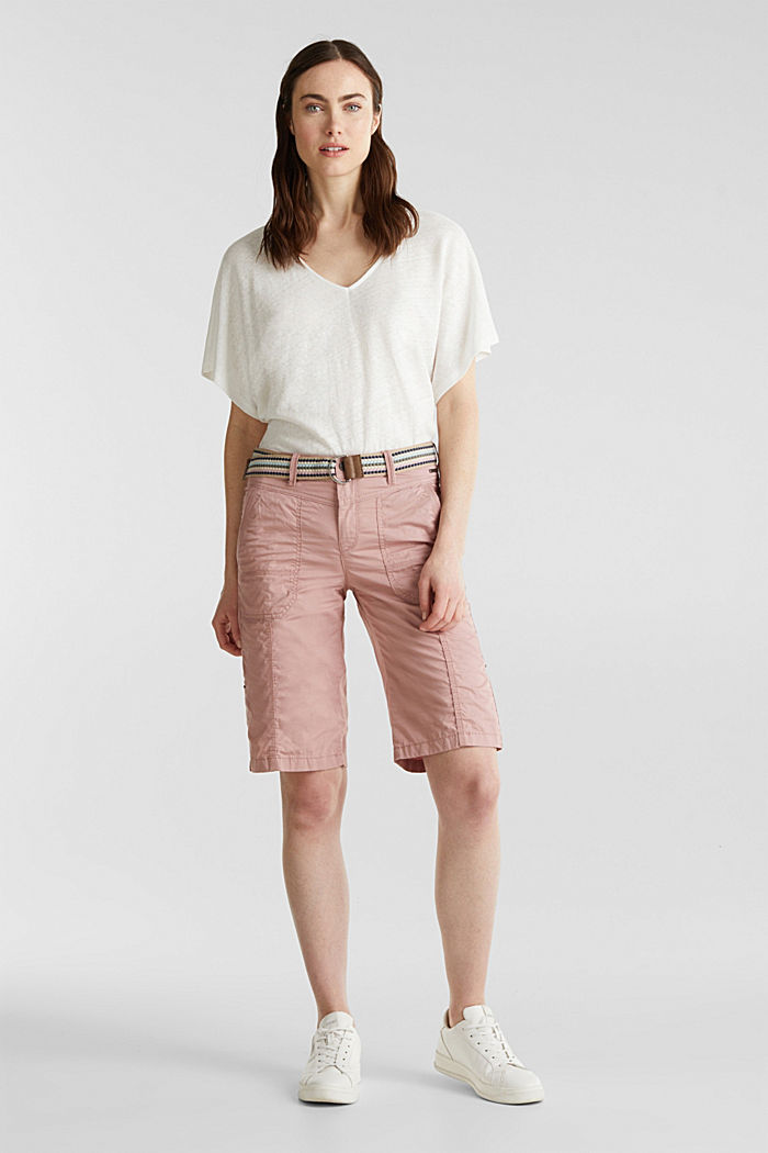 PLAY cotton shorts, OLD PINK, detail image number 1