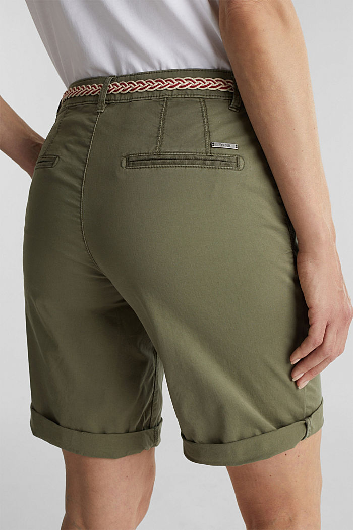 Chino shorts with a belt, LIGHT KHAKI, detail image number 5