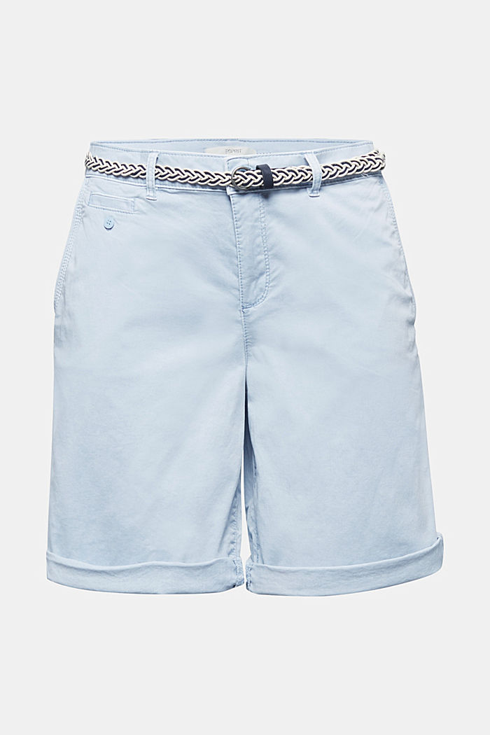 Chino shorts with a belt, LIGHT BLUE, detail image number 5