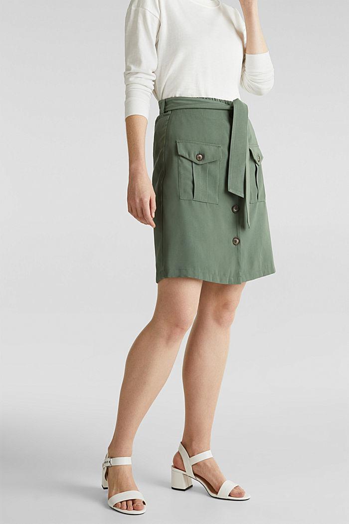 Rock-Shorts im Utility-Look, KHAKI GREEN, detail image number 0